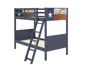 Donco Kids Lone Star Texas Flag Bunk Bed Blue 1845-TTBb-Bunk Beds-HipBeds.com
