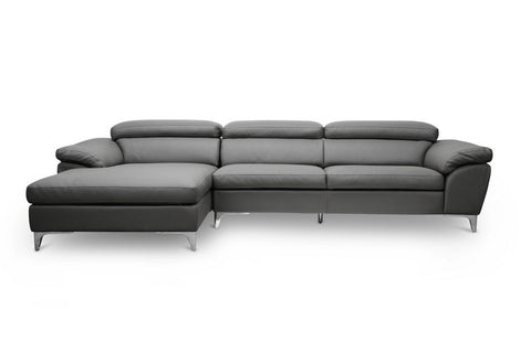 Baxton Studio Voight Gray Modern Sectional Sofa-Sofas-HipBeds.com