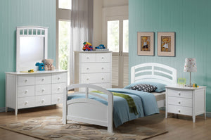 ACME San Marino Twin Bed White - 19150T-Panel Beds-HipBeds.com