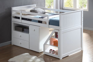 ACME Wyatt Loft Bed (w/Chest and Swivel Desk/Ladder) White - 19405-Loft Beds-HipBeds.com