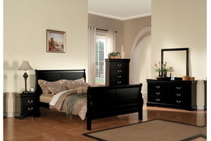 ACME Louis Philippe III Queen Bed Black - 19500Q-Sleigh Beds-HipBeds.com