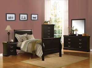 ACME Louis Philippe III Full Bed Black - 19508F-Sleigh Beds-HipBeds.com