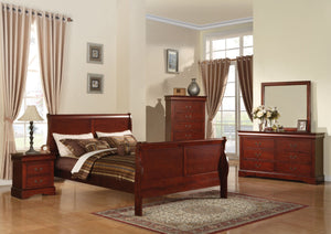 ACME Louis Philippe III Queen Bed Cherry - 19520Q-Sleigh Beds-HipBeds.com