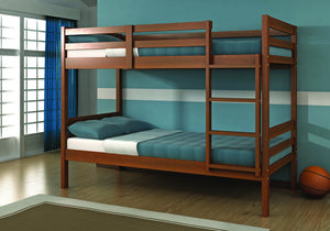 Donco Kids T/T Econo Bunk Bed Light Espresso 2004-E-Bunk Beds-HipBeds.com