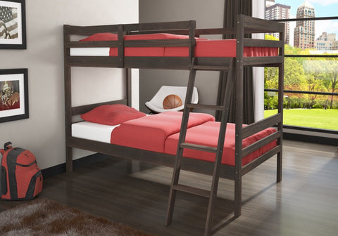 Donco Kids T/T Econo Ranch Bunk Bed Walnut 2004-RW/TT-Bunk Beds-HipBeds.com