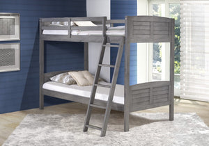 Donco Kids T/T Louver Bunk Bed Antique Grey 2010TTAG-Bunk Beds-HipBeds.com