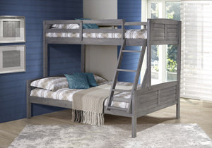 Donco Kids T/F Louver Bunk Bed Antique Grey 2012TFAG-Bunk Beds-HipBeds.com