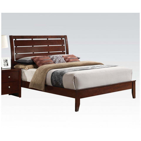 ACME Ilana Eastern King Bed Brown Cherry - 20397EK-Platform Beds-HipBeds.com