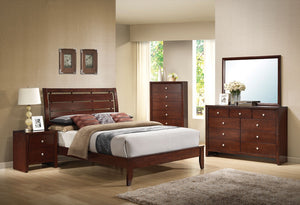 ACME Ilana Queen Bed Brown Cherry - 20400Q-Platform Beds-HipBeds.com