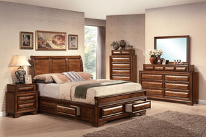 ACME Konane Queen Bed w/Storage Brown Cherry - 20450Q-Platform Beds-HipBeds.com