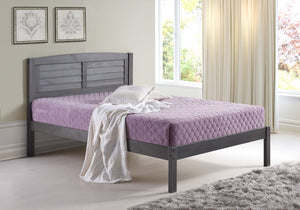 Donco Kids Full Louver Bed Grey 212FAG-Panel Beds-HipBeds.com