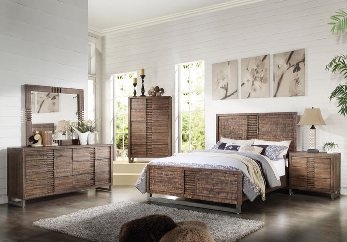 ACME Andria Queen Bed Reclaimed Oak - 21290Q
