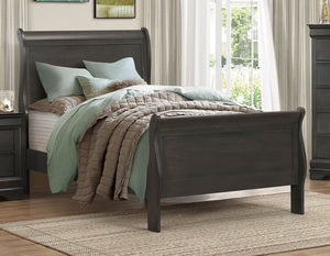 Homelegance Mayville Queen Bed Burnished Brown Cherry - B2147GQ-Platform Beds-HipBeds.com