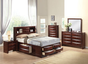 ACME Ireland - Storage Eastern King Bed w/Storage Espresso - 21596EK-Platform Beds-HipBeds.com