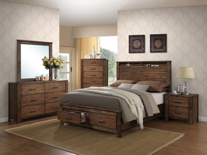 ACME Merrilee Queen Bed w/Storage Oak - 21680Q