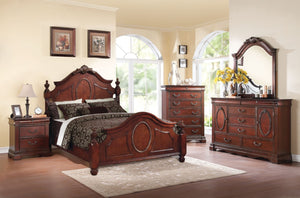 ACME Estrella Queen Bed Dark Cherry - 21730Q-Panel Beds-HipBeds.com