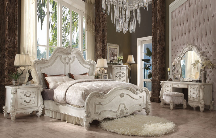 ACME Versailles Queen Bed Bone White - 21760Q