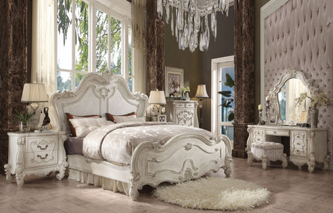 ACME Versailles Eastern King Bed Bone White - 21757EK-Platform Beds-HipBeds.com