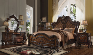 ACME Versailles Eastern King Bed Cherry Oak - 21787EK-Panel Beds-HipBeds.com