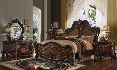 ACME Versailles California King Bed Cherry Oak - 21784CK-Panel Beds-HipBeds.com