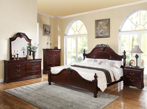 ACME Gwyneth Eastern King Bed Cherry - 21857EK-Panel Beds-HipBeds.com