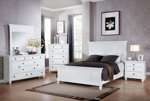 ACME Merivale California King Bed White - 22414CK-Panel Beds-HipBeds.com