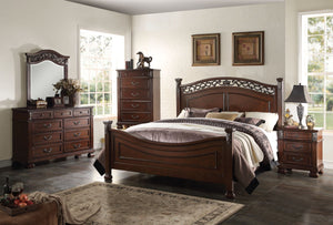 ACME Manfred Eastern King Bed Dark Walnut - 22767EK-Panel Beds-HipBeds.com