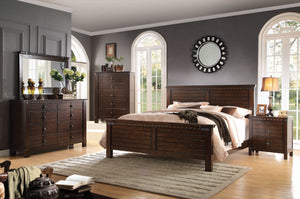 ACME Brooklyn California King Bed Espresso - 23684CK-Panel Beds-HipBeds.com