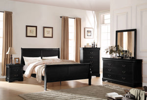 ACME Louis Philippe Queen Bed Black - 23730Q-Panel Beds-HipBeds.com