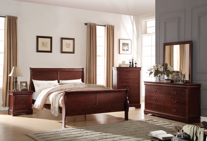 ACME Louis Philippe Full Bed Cherry - 23757F