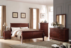 ACME Louis Philippe Eastern King Bed Cherry - 23747EK-Panel Beds-HipBeds.com