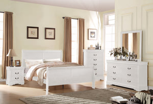 ACME Louis Philippe Queen Bed White - 23830Q-Panel Beds-HipBeds.com