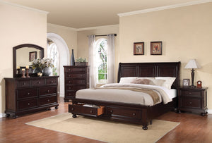 ACME Grayson Eastern King Bed w/Storage Dark Walnut - 24607EK-Platform Beds-HipBeds.com