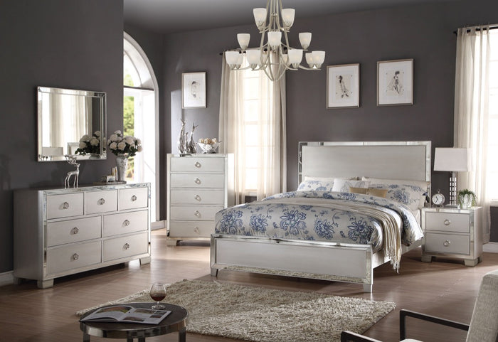 ACME Voeville II Eastern King Bed Platinum - 24837EK
