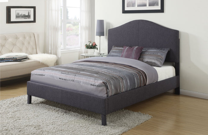 ACME Clyde Queen Bed Gray Linen - 25010Q