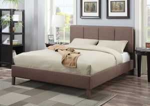 ACME Rosanna Eastern King Bed Light Brown Linen - 25077EK-Platform Beds-HipBeds.com