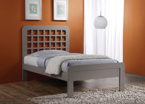 ACME Lyford Queen Bed Gray - 25370Q-Platform Beds-HipBeds.com