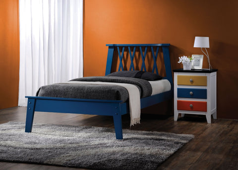 ACME Moffett Queen Bed Dark Blue - 25380Q-Platform Beds-HipBeds.com