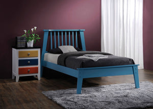 ACME Marlton Queen Bed Blue - 25400Q-Platform Beds-HipBeds.com