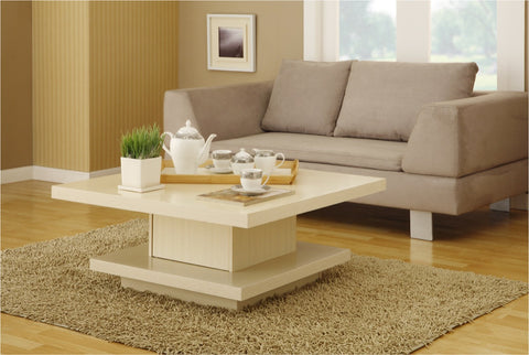 Furniture Of America Bronsin Square Storage Coffee Table Ivory-Coffee Tables-HipBeds.com