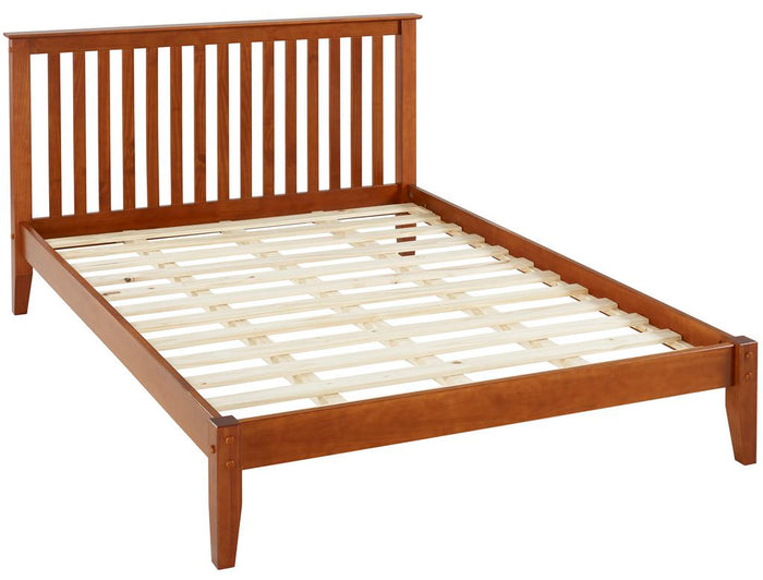 Camaflexi Bed - Mission Style King Size Platform Bed - Cherry Finish - SHK325