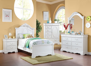 ACME Estrella Twin Bed White - 30240T-Panel Beds-HipBeds.com
