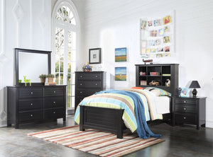ACME Mallowsea Twin Bed Black - 30380T-Panel Beds-HipBeds.com