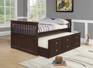 Donco Kids Full Captains Trundle Bed 303-FCP-Bookcase Beds-HipBeds.com