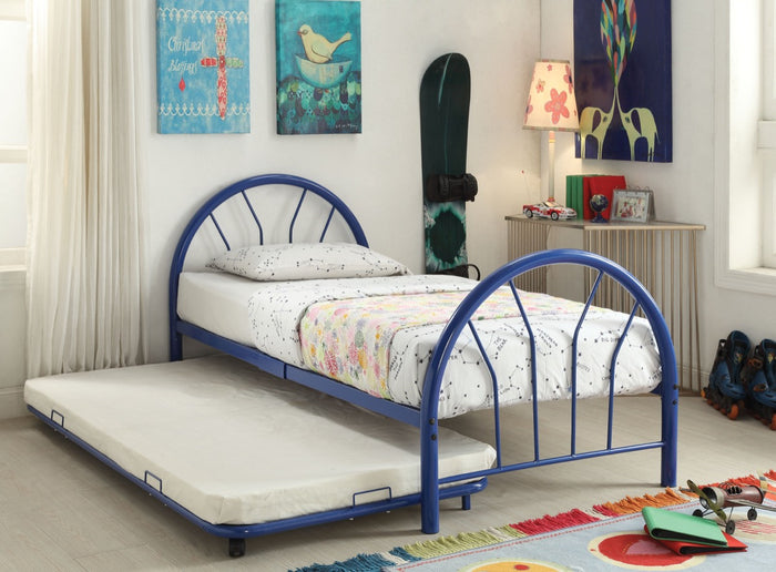 ACME Silhouette Twin Bed Blue - 30450T-BU