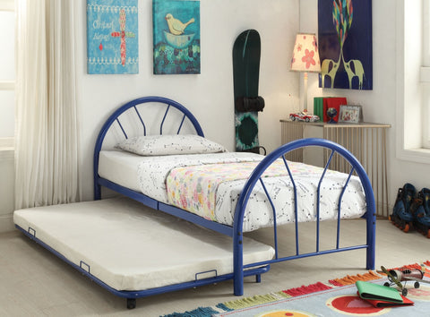 ACME Silhouette Twin Bed Blue