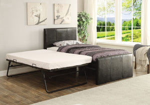 ACME Jandale Twin Bed & Trundle Black PU - 30480T-Platform Beds-HipBeds.com