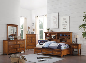 ACME Lacey Daybed w/Storage (Full) Cherry Oak - - 30555F-Panel Beds-HipBeds.com