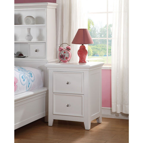 ACME Lacey White Nightstand With 2 Drawer - 30599-Nightstands-HipBeds.com