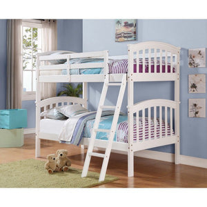 Donco Kids Columbia Bed White 311-W-Bunk Beds-HipBeds.com